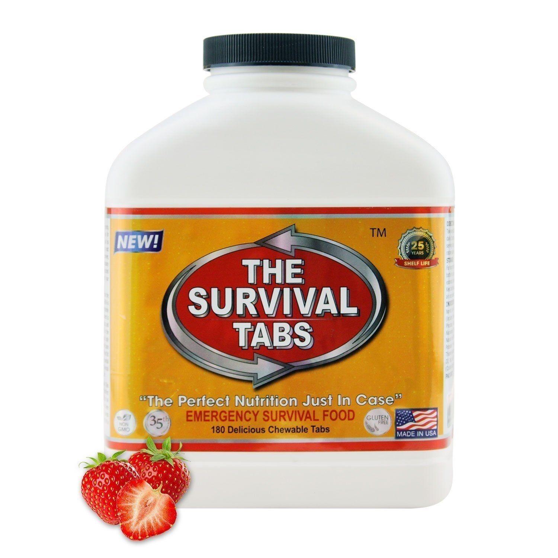 Survival Tabs 180 Vital Strawberry Flavor Emergency Food Predein Substitute