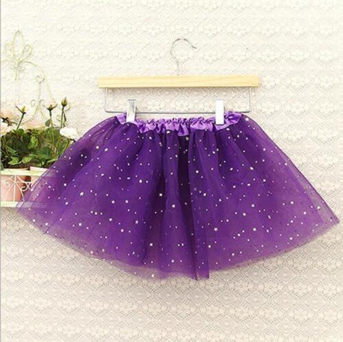 New Baby Girls Skirt Stars Sequins Party Princess Dress Dance Ballet Tutu Skirts