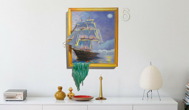 3D Sailboat Draw 73 Wall Paper Murals Wall Print Wall Wallpaper Mural AU Summer