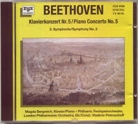 BEETHOVEN - PIANO CONCERTO 5 EMPEROR: MAGDA BERGREICH / SYMPHONY No 2 / SCHOLZ