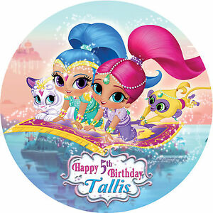 Shimmer And Shine Customised Edible REAL Icing Image