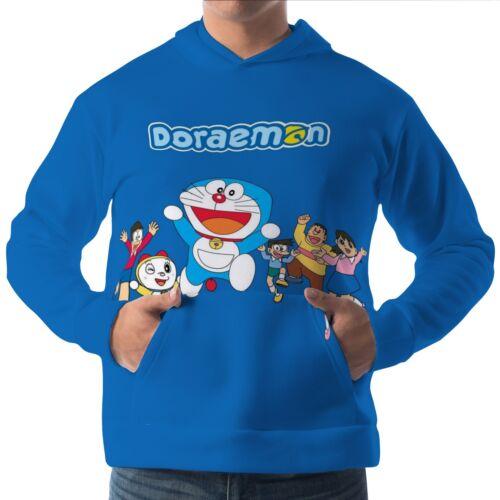 Doraemon Mens Hoodie Hooded Pullover Sweatshirt aam30141
