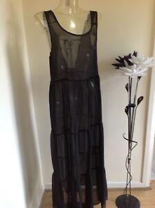 Bnwt Ladies Atmosphere Maxi Style Kaftan/cover Up Size Medium Exquisite Traditionelle Stickkunst