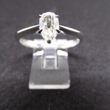 Modern very attractive Diamond pear shaped diamond single stone platinum ring