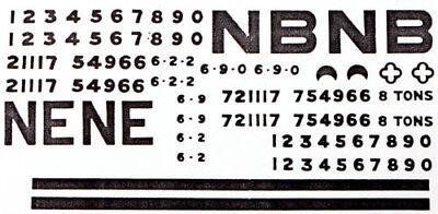 Transfers Pressfix SR//BR O gauge free post L1 Parkside Dundas PS62