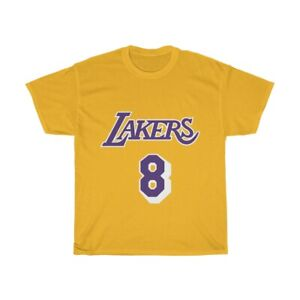 Details about Kobe Bryant LA Lakers Jersey Number 8 24 Front & Back Unisex T-Shirt
