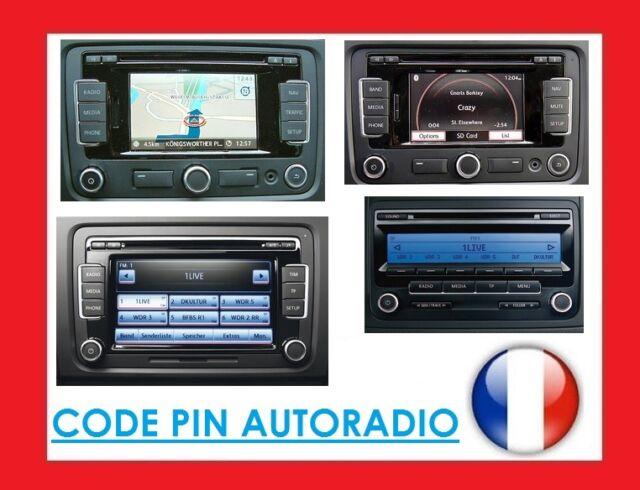 Deblocage Autoradio VW SEAT code PIN VW Volkswagen RNS510 RNS 510