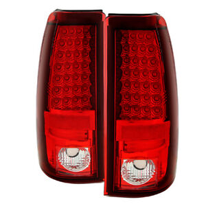 Chevy-GMC-03-06-Silverado-Sierra-Rojo-Transparente-Luz-Posterior-Juego-Led-Eu