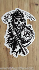 Sons Of Anarchy S.O.A. Reaper Sticker Biker Samcro FX Channel
