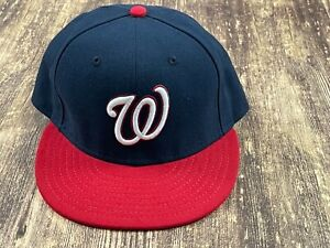 Washington Nationals Blue/Red MLB Baseball Hat - New Era - 7 ¼