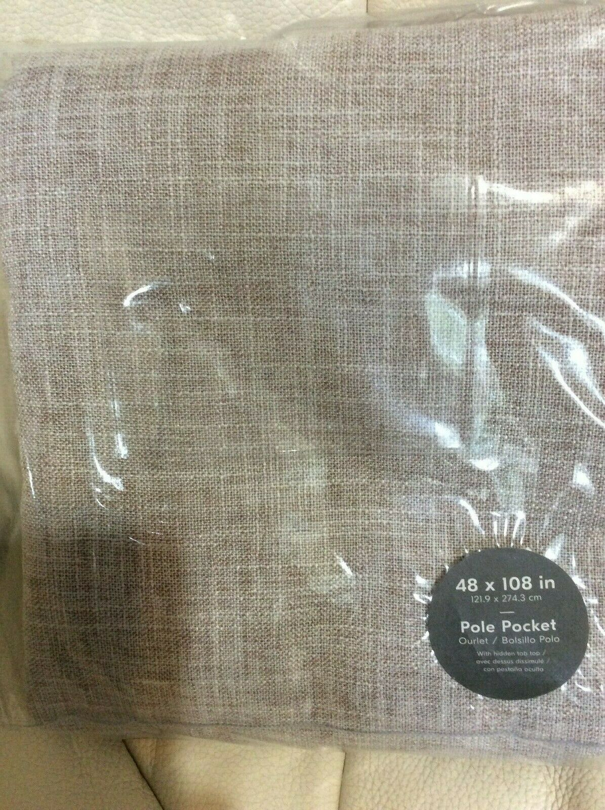 West Elm One (1) Crossweave Curtains 48x108 48x108 48x108 NWT Dusty Blaush Unlined 9160c1