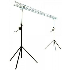 Ibiza-Lightbridge-Winch-Truss-Gantry-4m-Disco-DJ-Lighting-Stand-Goalpost-Light