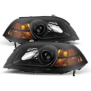 Fit-Acura-04-06-MDX-Black-Housing-Replacement-Headlights-Lamp-Pair-Base-Touring