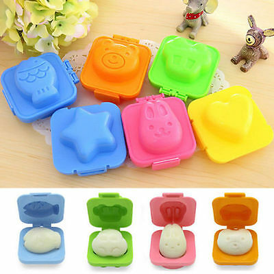 2Pcs Cute Cartoon Boiled Egg Rice Mold Bento Maker Sandwich Cutter Kitchen Tools