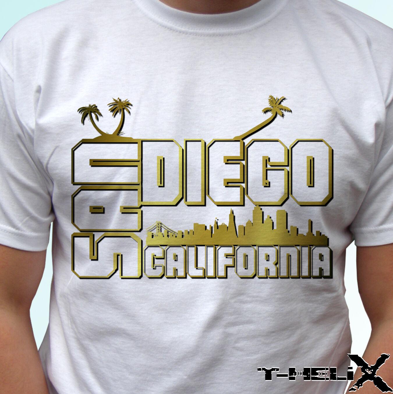 San Diego California USA T-Shirt San Diego Ni/ños Chicos Chicas Unisexo Camiseta Blanco