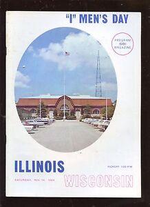 November 14 1964 NCAA Football Program Illinois vs Wisconsin EXMT