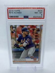 2019-Topps-Pete-Alonso-475-Rookie-Card-PSA-Grade-NM-MT-8-New-York-Mets