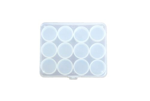 S7356. hallazgos 1 X Clear cajas de almacenamiento con 12 compartimentos transparente abalorios