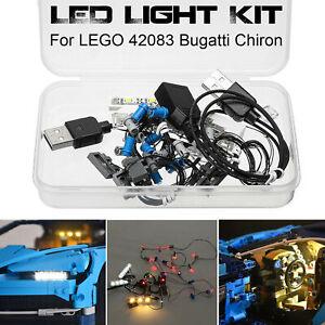 Kit-d-039-eclairage-a-LED-SEULEMENT-pour-le-kit-technique-Bugatti-Chiron-LEGO-42083