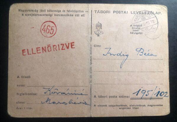 1913 Feldpost Hongrie Militaire Censuré Carte Postale Couverture Ww1 Design Moderne
