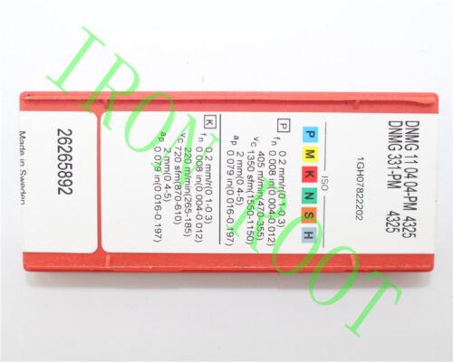 Sandvik 10Pcs  DNMG110404-PM DNMG331-PM 4325   NEW Carbide Inserts