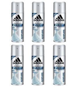 Détails sur 6p. ADIDAS ADIPURE déodorant corps spray 150 ml homme deo body pour NOUVEAU