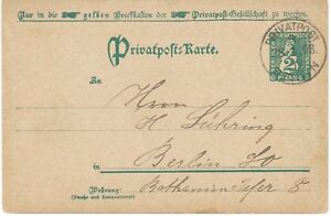 BERLIN-1896-2Pf-Privat-GAPostkrt-Berliner-Privatpost-Spedition-PRIVATPOST-BERLIN