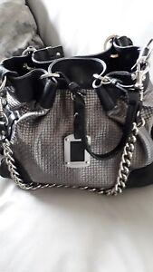 VIA-REPUBBLICA-FOR-RUSSELL-amp-BROMLEY-Metallic-Silver-amp-Black-Shoulder-Handbag
