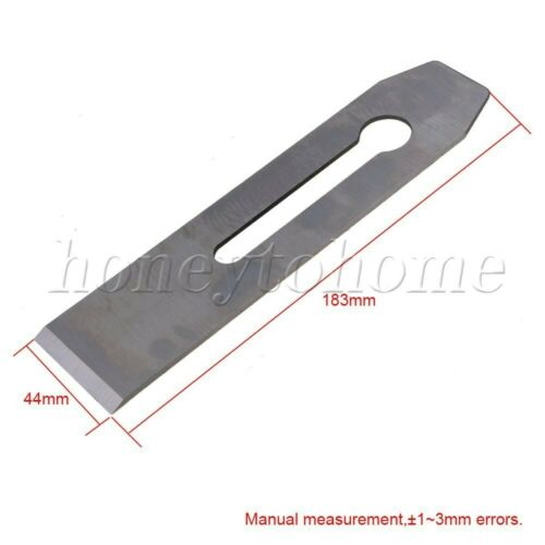 2pcs High-carbon Steel Plane Blade Replacement for Woodworking Hand Planer Tool