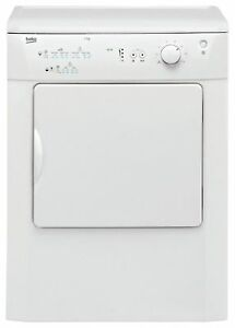 Image Is Loading Beko DRVT71W Free Standing 7kg Vented Tumble Dryer