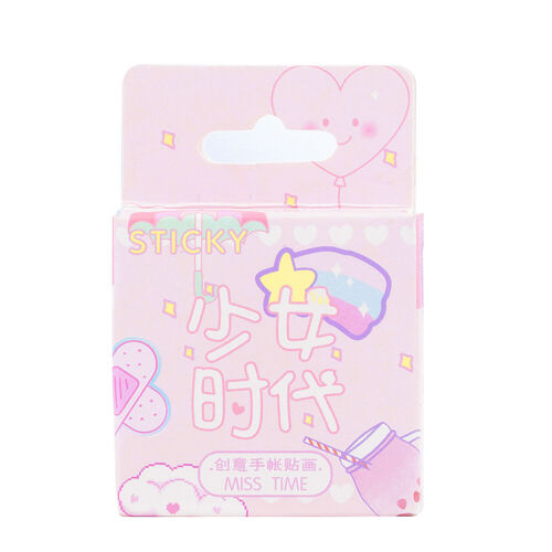 Lot 46PCS Cute Stickers Kawaii Stationery DIY Scrapbooking Diary Label Stickers