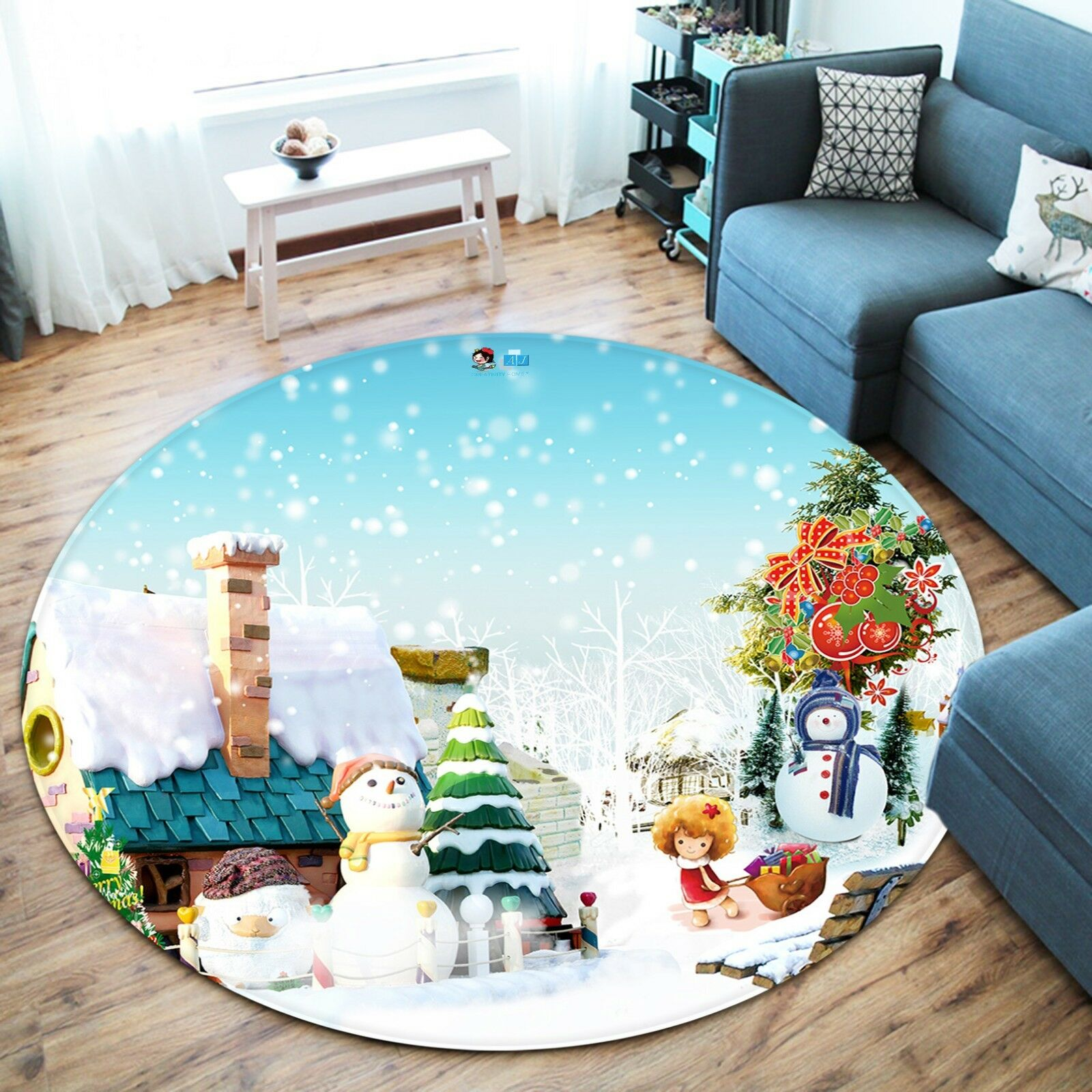 3d Natale Xmas 605 antiscivolo tappeto tappetino vano giri elegante TAPPETO de