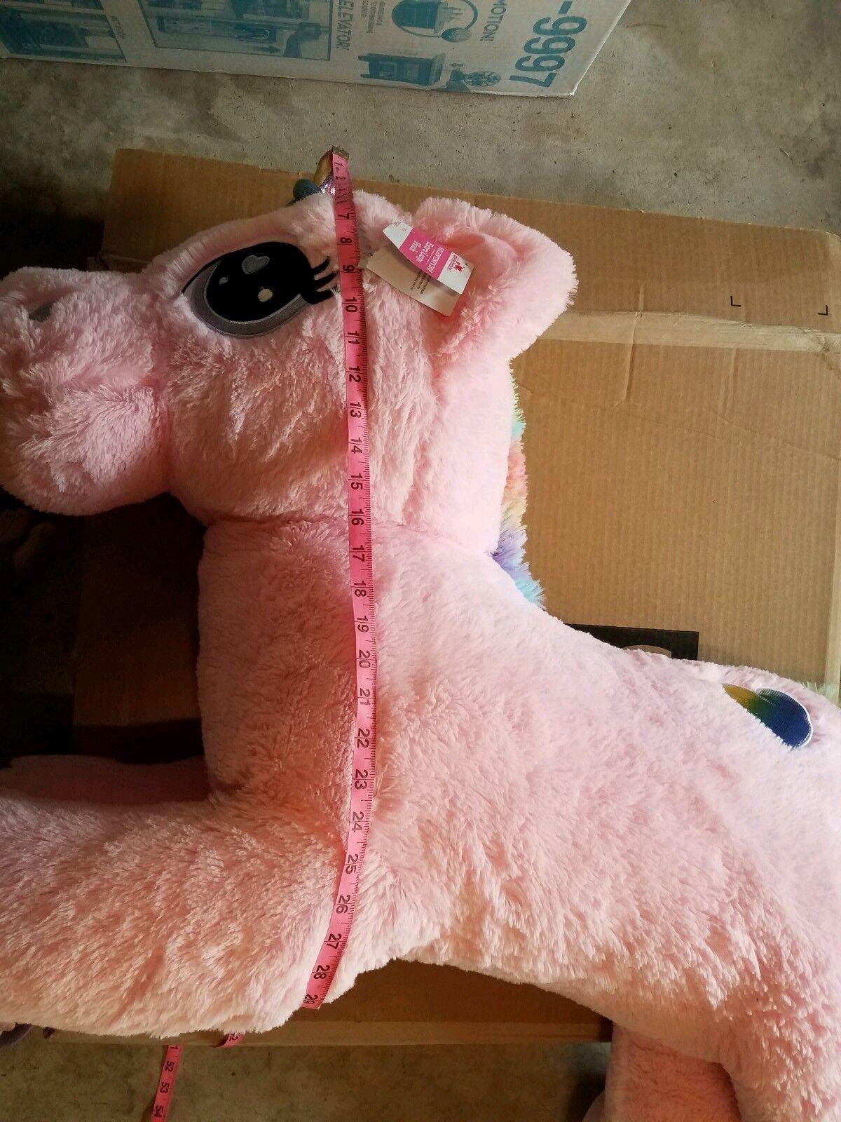GIANT PINK UNICORN PLUSH GIFT Big Big Big Stuffed Animal Large Huge Valentines Day NWT 973364