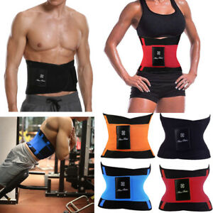 f3d98523b1e0b Gym Slim Belly Exercise Neoprene Sweat Belt Men Women Waist Trainer ...