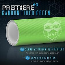 4d Green Carbon Fiber Gloss Vinyl Wrap Bubble Free Air Release 12 X 60 In Roll