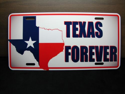 TEXAS FOREVER NOVELTY LICENSE PLATE FOR CARS TEXAS STATE FLAG METAL TEXAN