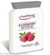 60 Pure Raspberry Ketones 2000mg Daily Weight Loss Slimming Diet Pills Burn Fat