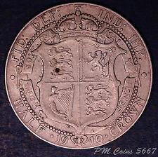 1910 Edward VII KEDVII Silver 925 Half crown 2/6 coin **[5667]