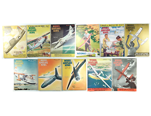 Vintage Lot of 11 Model Airplane News Magazines Various Years (1946-1949)