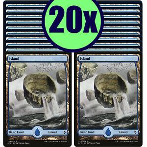 20x ISLAND 258 Full Art Basic Land NM/LP MTG Magic Battle for Zendikar