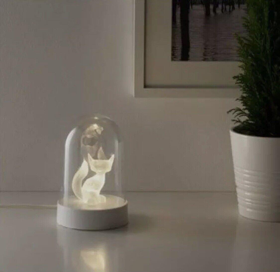2 X IKEA STRALA LED Fuchs Tischdekoration Tisch Lampe Leuchte Fox Dekorativ