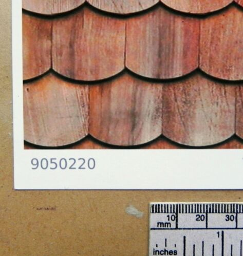 "1//12th Dolls House /""Wood Shingles-Fish Scale/"" Type /""Self Adhesive Vinyl"