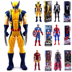 Spider Superhero Man Marvel Avengers Bambini Wolverine Figurine Figure N0wv8mn