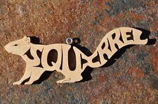 Squirrel  Nature Woodland Animal  Wood  Christmas Ornament Gift Tag  USA