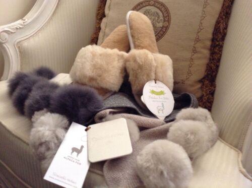 Alpaca Fur Slide By Samantha Holmes in Champagne  £75.00  Now £40.00