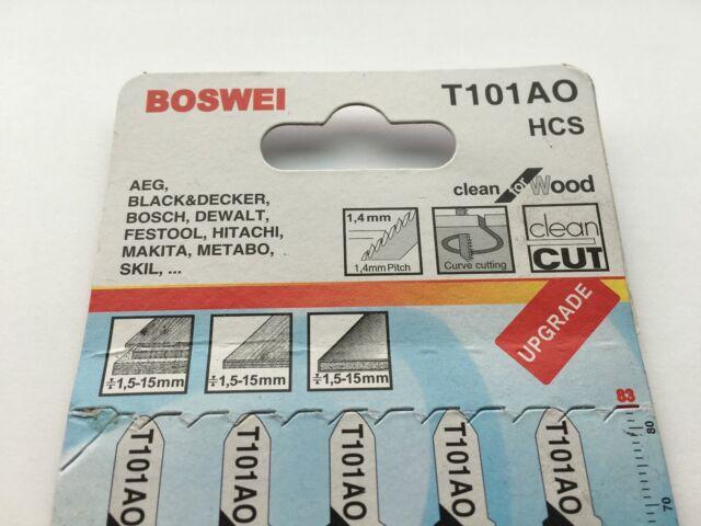 Bosch Jigsaw blade T 301 CD Clean for Wood 2608637590