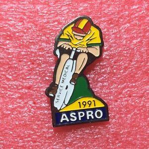 Pins-CYCLISME-Velo-Course-Service-Medical-Sponsor-ASPRO-1991