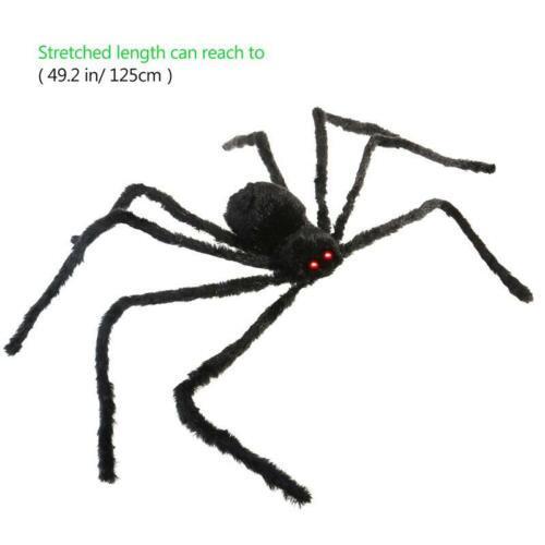 NEW 2017 Halloween Spider Giant Animals Decor Sound Control Simulate Black Party