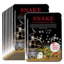 Snake venom Face Mask Pack Sheet Moisture Essence Facial Skin Care 9pcs Unisex
