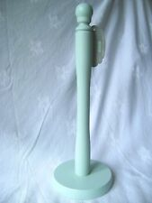 NEW MINT GREEN WOODEN COUNTER TOP KITCHEN ROLL TOWEL STAND HOLDER APOLLO 4443